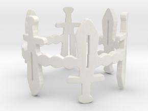 Sword Dance Ring in White Natural Versatile Plastic: 6 / 51.5