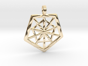 PROTECTION GRID in 14K Yellow Gold