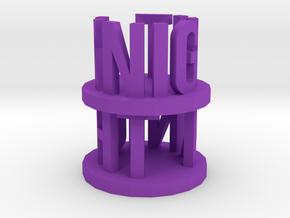 Alpha Knight in Purple Processed Versatile Plastic