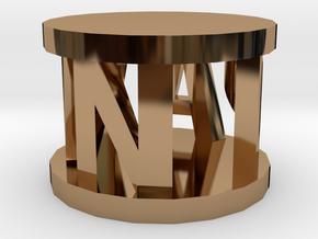 Alpha Pawn in Polished Brass