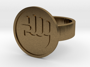 Raised Fist Ring in Raw Bronze: 10 / 61.5
