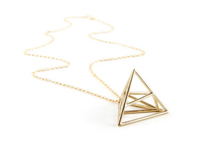 Tessellate Pyramid — DATA IN EXILE in Polished Brass