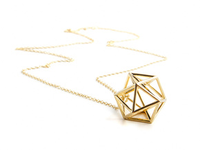 Tessellate Sphere — DATA IN EXILE in 18K Gold Plated