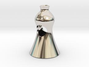 design 1 in Rhodium Plated Brass