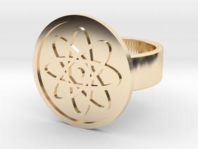 Atom Ring in 14k Gold Plated Brass: 8 / 56.75