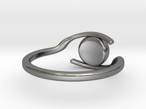 "Ring ""Eye"" in Fine Detail Polished Silver: 8 / 56.75"
