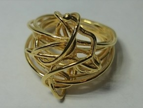 Hyperspase in 18k Gold Plated Brass