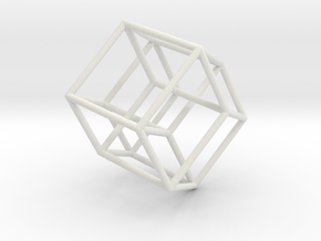 Tesseract 2 in White Natural Versatile Plastic