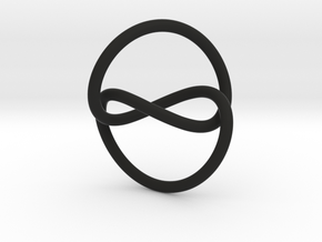 Infinity Knot Pendant in Black Natural Versatile Plastic