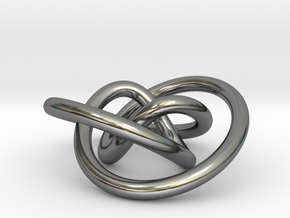 Impossible Knot Pendant in Fine Detail Polished Silver