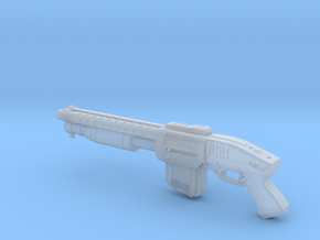 Zx76 Double Barrel Shotgun 1:10 scale in Smooth Fine Detail Plastic