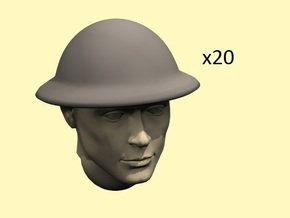 28mm WW1 Brodie dish helmet in Smoothest Fine Detail Plastic