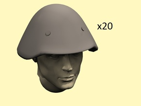 28mm M-56 DDR helmets in Frosted Extreme Detail