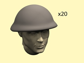 28mm Mk.IV British helmets in Smoothest Fine Detail Plastic