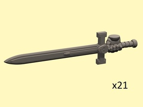 28mm Terran Empire long swords (armored right hand in Smoothest Fine Detail Plastic
