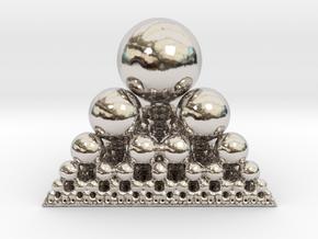 Spheres Sierpinski Tetrahedron in Platinum