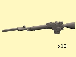 28mm Steampunk Mosin M1891 laser rifles w bayonett in Frosted Extreme Detail