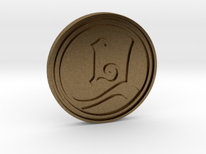 """The Layton Series 10th Anniversary 2017"" coin in Natural Bronze"