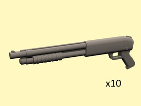 28mm Pump-action shotguns  in Smoothest Fine Detail Plastic