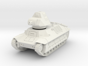 PV146E FCM 36 Light Tank (1/56) in White Natural Versatile Plastic