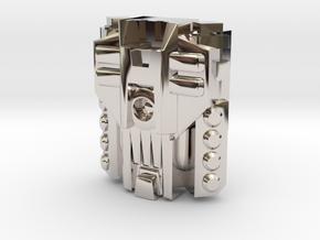 Mega Powermaster Engine, Metal (Titans Return) in Rhodium Plated Brass