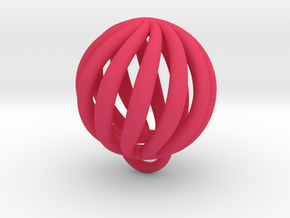 Spiral Elastic Band in Pink Processed Versatile Plastic