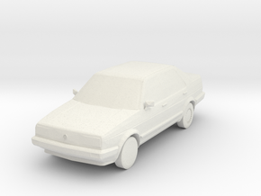 VW Jetta MK2 S scale in White Natural Versatile Plastic