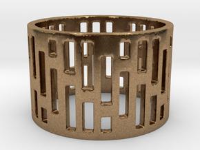 Denim Ring Size 6 in Natural Brass