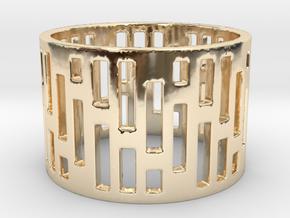 Denim Ring Size 6 in 14K Yellow Gold