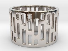 Denim Ring Size 6 in Platinum