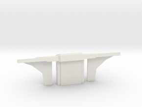 Console Type 6 (Star Trek) in White Natural Versatile Plastic: 1:30