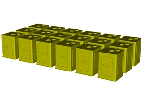1/35 scale WWI flimsies 4 gal fuel canisters x 18 in Smooth Fine Detail Plastic