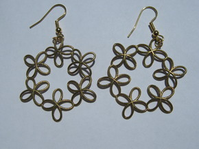 Basin 2 1 Earrings in Raw Brass
