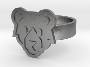 Bear Ring in Natural Silver: 13 / 69