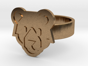 Bear Ring in Natural Brass: 13 / 69