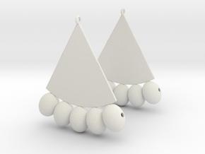Egyptian Earrings in White Natural Versatile Plastic: Extra Large