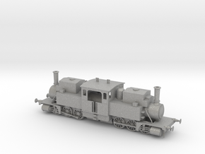 Double-ended Fairlie type steam locomotive in Aluminum