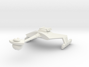 3125 Scale Klingon D7B Battlecruiser WEM in White Natural Versatile Plastic