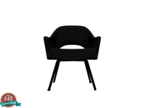 Miniature Executive Armchair - Eero Saarinen in White Strong & Flexible: 1:12