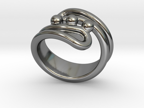 Threebubblesring 19 - Italian Size 19 in Fine Detail Polished Silver