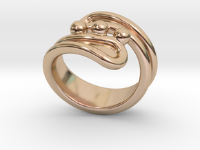 Threebubblesring 19 - Italian Size 19 in 14k Rose Gold Plated Brass