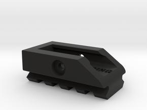 HP to Pickaninny Adaptor in Black Natural Versatile Plastic