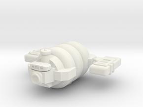 Omni Scale General Small Skid Utility Ship SRZ in White Natural Versatile Plastic