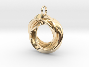 Roebius pendant with loop in 14K Yellow Gold