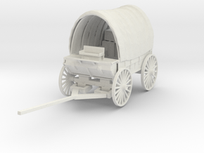 O Scale Covered Wagon in White Natural Versatile Plastic
