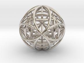 OctaHexasphere w/ nested Platonic Solids in Platinum