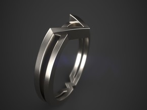 Wonder Woman Theme Ring Size from US 5 to US 11 in Fine Detail Polished Silver: 7 / 54