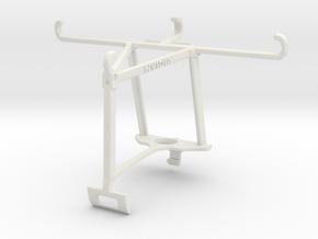 Controller mount for Xbox One S & Panasonic Eluga  in White Natural Versatile Plastic