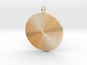 Minimalist Spiral Pendant in 14K Yellow Gold