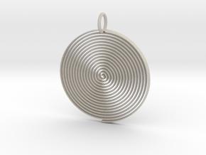 Minimalist Spiral Pendant in Natural Sandstone
